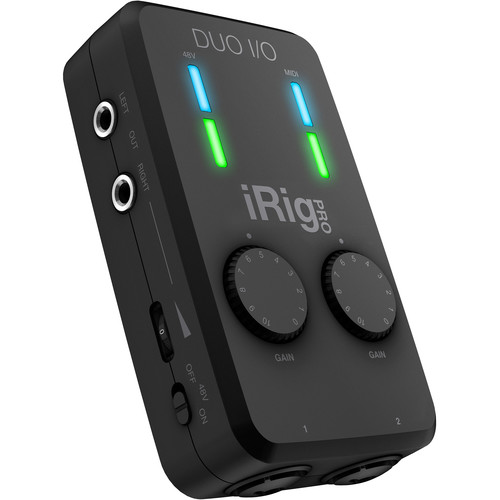IK Multimedia iRig Pro Duo I/O 2-Channel Audio/MIDI Interface for Mobile Devices and Computers
