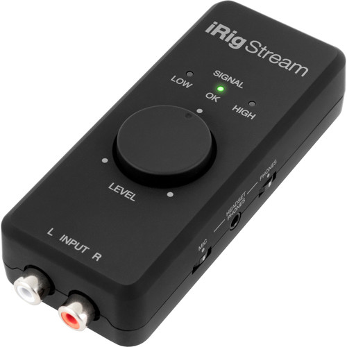 IK Multimedia iRig Stream 2-Channel Audio Interface for Mobile Devices