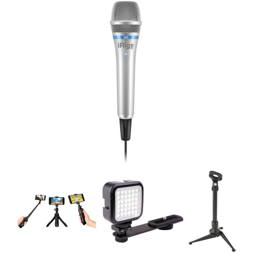 IK Multimedia iRig Condenser Microphone with Video and Live Stream Bundle Kit