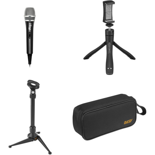 IK Multimedia iRig Videocaster Desktop Kit with Mic, Stands, and Carry Case