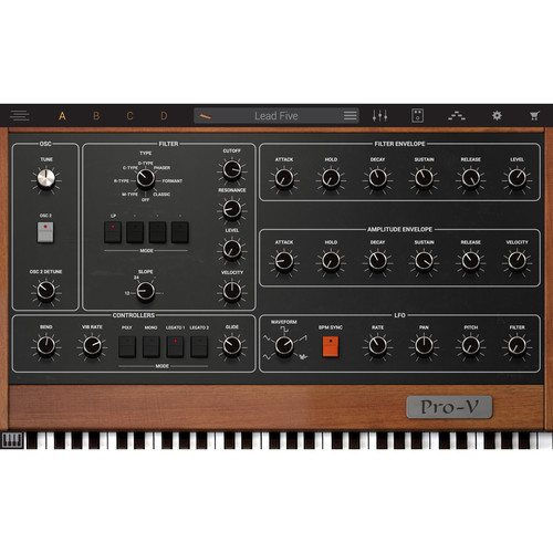 IK Multimedia Syntronik Pro-V - Virtual Synthesizer Plug-In (Download)
