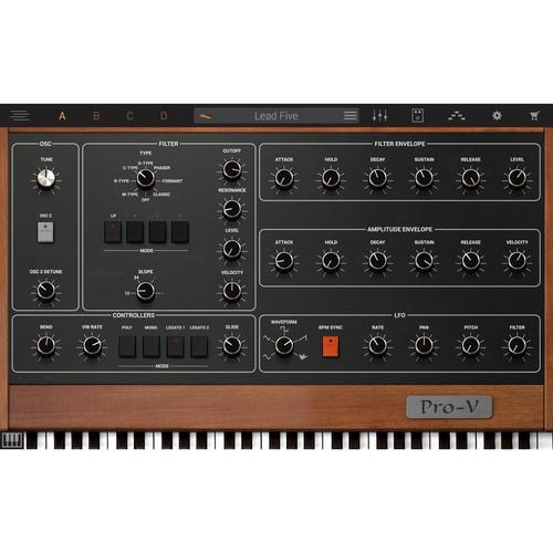 IK Multimedia Syntronik Pro-V - Virtual Synthesizer Plug-In (Download)
