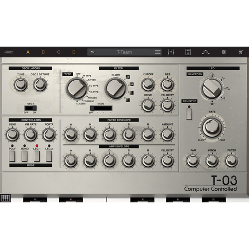 IK Multimedia Syntronik T-03 - Virtual Synthesizer Plug-In (Download)