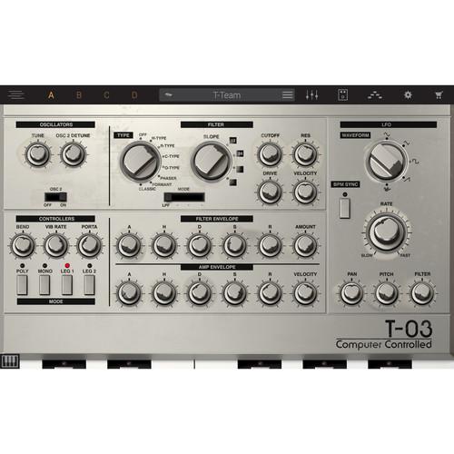 IK Multimedia Syntronik T-03 - Virtual Synthesizer Plug-In (Download)
