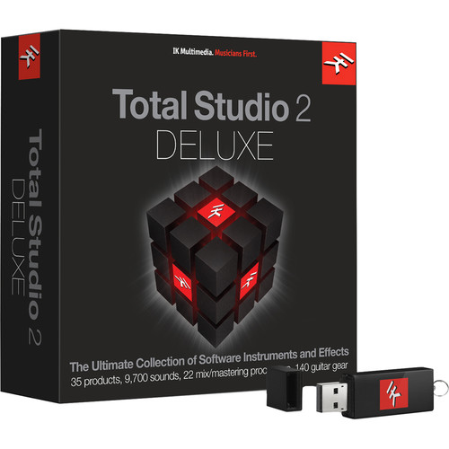 IK Multimedia Total Studio Bundle 2 Deluxe - Software for Audio Production, Mixing & Mastering (Full Version, Boxed Edition)