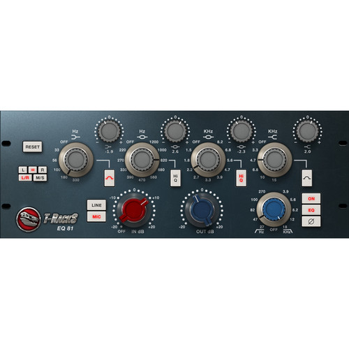 IK Multimedia T-RackS EQ 81 - Preamp and EQ Emulation Plug-In (Download)