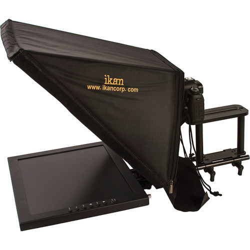 "ikan 17"" Rod Based Teleprompter for 15mm Rods with Pedestal System and SDI to HDMI Converter"