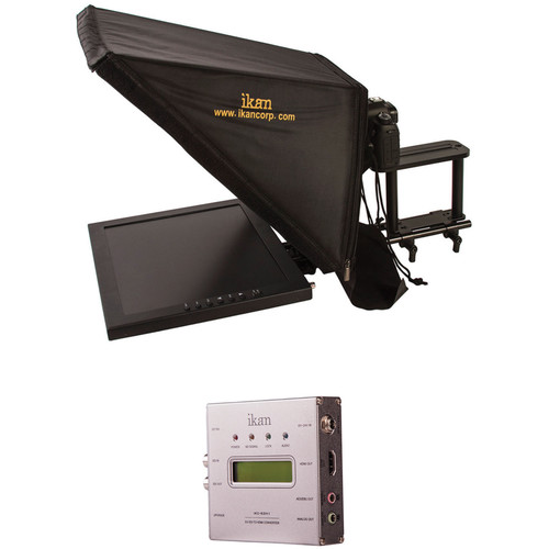 """ikan 17"""" Rod Based Teleprompter for 15mm Rods with SDI to HDMI Converter"""