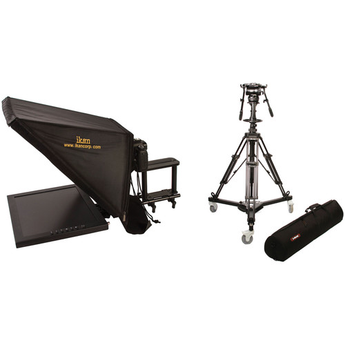 """ikan 17"""" Rod Based Teleprompter for 15mm Rods and Pedestal System"""