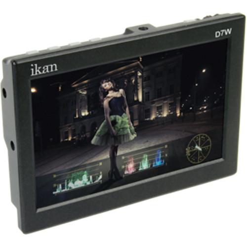 """ikan D7w 7"""" 3G-SDI/HDMI Field Monitor w/Waveform & Canon LP-E6 Battery Plate"""
