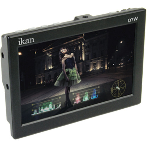 "ikan D7w 7"" 3G-SDI/HDMI Field Monitor w/Waveform & Panasonic D54 Battery Plate"