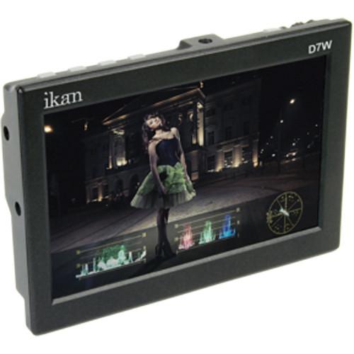 """ikan D7w 7"""" 3G-SDI/HDMI Field Monitor w/Waveform & Panasonic D54 Battery Plate"""