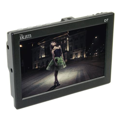 """ikan D7 7"""" 3G-SDI/HDMI LCD Field Monitor with Sony L Type Batt Plate"""