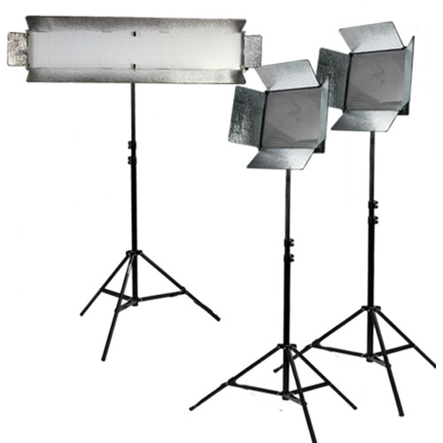 ikan INT21115 Bi-Color Large Interview 3-Piece Light Kit