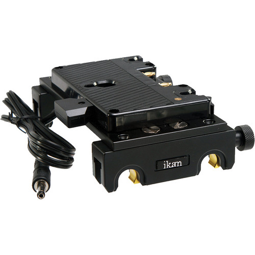 ikan Quick Snap Pro Battery Rail Kit with AB Gold Mount Battery Plate for Blackmagic Cinema Camera / Production Camera