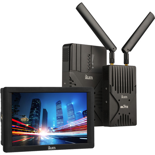 ikan Blitz 400 Pro Wireless Uncompressed 3G-SDI/HDMI Video Kit with DH7 HDMI On-Camera Field Monitor