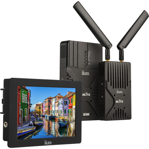 ikan Blitz 400 Pro Wireless Uncompressed 3G-SDI/HDMI Video Kit with Saga S7H On-Camera Field Monitor