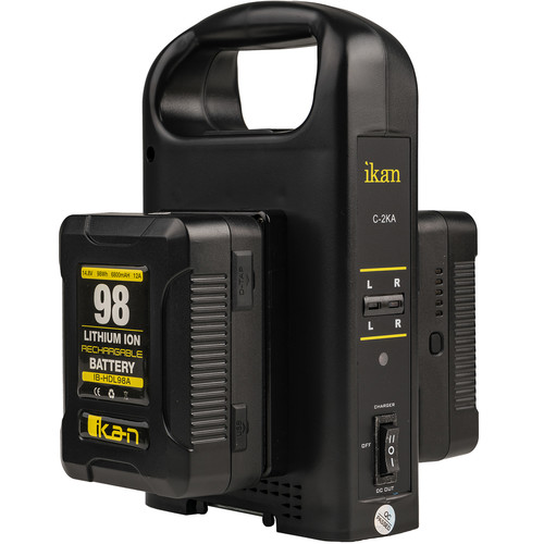 ikan Dual Charger and 2 x 98Wh Battery Kit (GoldMount)