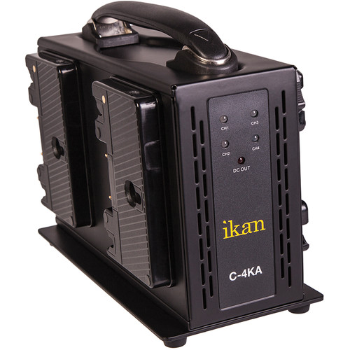 ikan Quad Pro Battery Charger for Anton Bauer Type Batteries