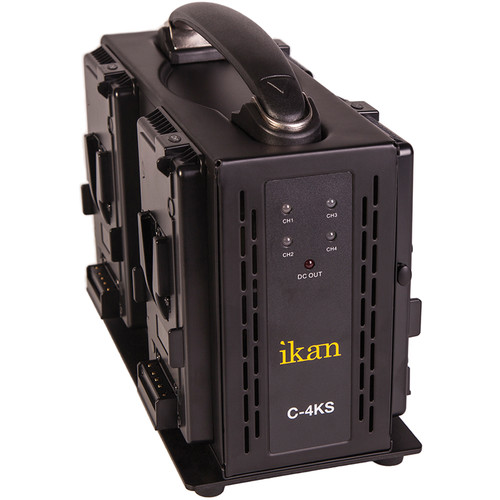 ikan Quad Pro Battery Charger for V-Mount Type Batteries