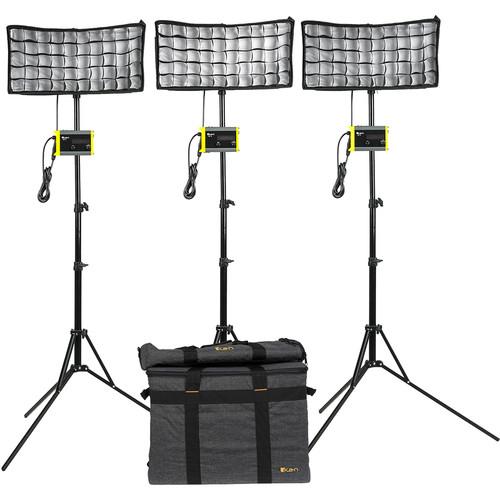 ikan CB8 Canvas Bi-Color 3-Point LED Light Kit
