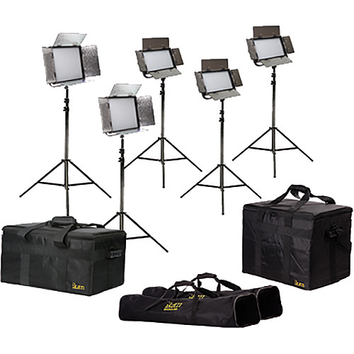 ikan Featherweight Bi-Color Chromakey Kit with AB and V-Mount Battery Plates