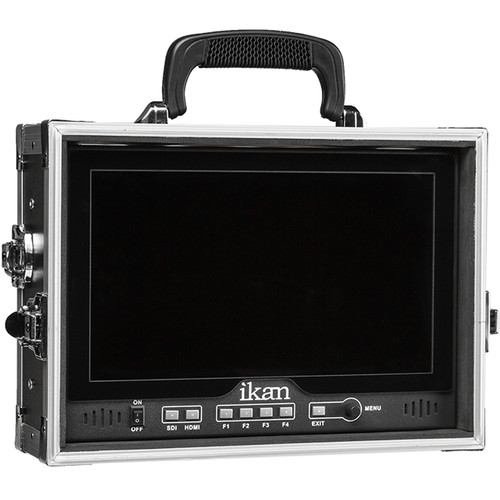 "ikan D12-FK-V 11.6"" 3G-SDI Full HD Monitor with V-Mount Plate and Integrated Hard Case"