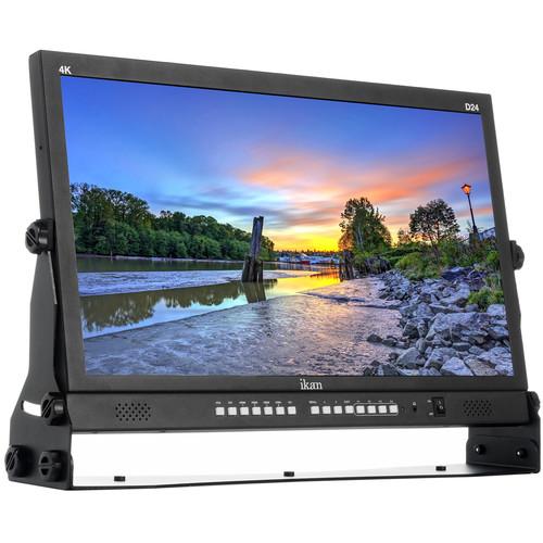 "ikan D24 - 23.8"" Native Ultra HD 4K Monitor with Quad Split Display and 3G-SDI, HDMI 2.0 Input"