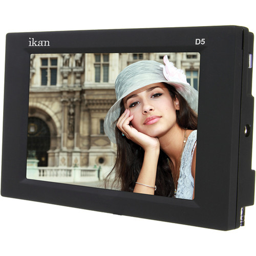 "ikan D5 5.6"" On Camera Monitor with D54 Battery Plate"