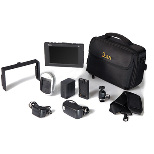 "ikan D5w 5.6"" 3G-SDI Field Monitor with Waveform, Canon 900 Deluxe Kit"