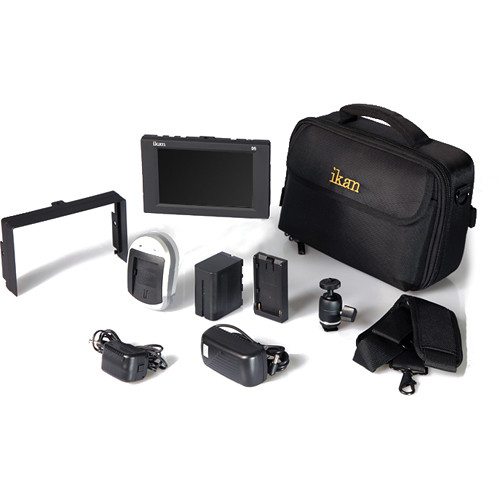 "ikan D5w 5.6"" 3G-SDI Field Monitor with Waveform, Nikon EN-EL15 Deluxe Kit"