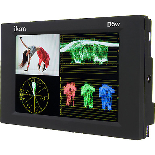 "ikan D5w 5.6"" On Camera Waveform Monitor with EN-EL15 Battery Plate"