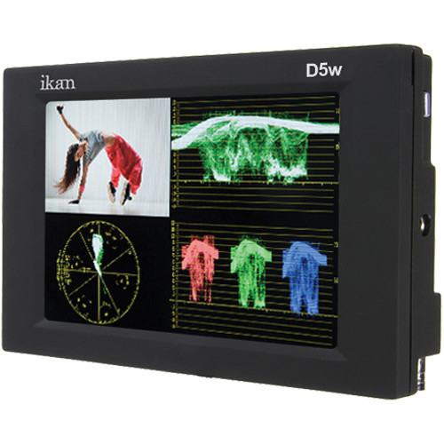 """ikan D5w 5.6"""" On Camera Waveform Monitor with L Series Battery Plate"""