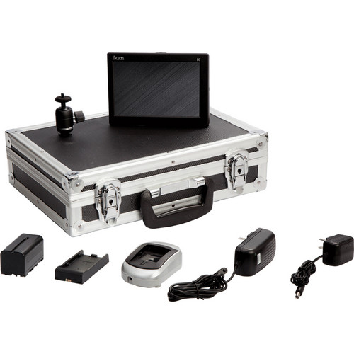 ikan D7 Field Monitor Deluxe Kit with LP-E6 Battery Plate