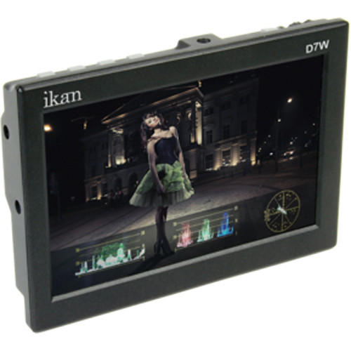 "ikan D7w 7"" 3G-SDI/HDMI Field Monitor w/Waveform & Canon BP 900 Battery Plate"