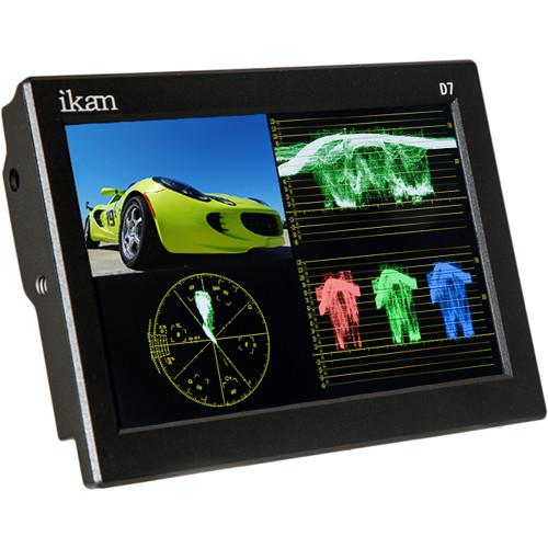"ikan D7w 7"" 3G-SDI/HDMI Field Monitor w/Waveform & Nikon EN-EL 15 Battery Plate"