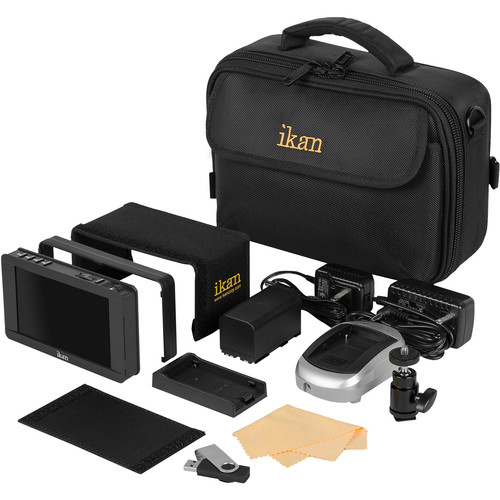 """ikan DH5e-DK 5"""" On-Camera Field Monitor Deluxe Kit (Canon 900 Series Type)"""