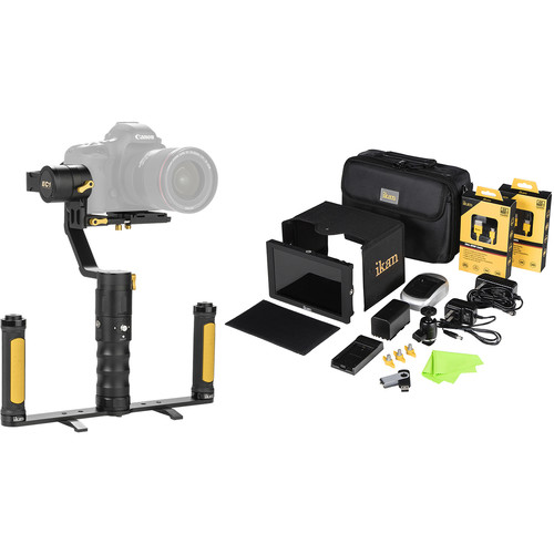 ikan DS2 Beholder 3-Axis Gimbal and DH7 Monitor Kit with Panasonic D54-Series Battery