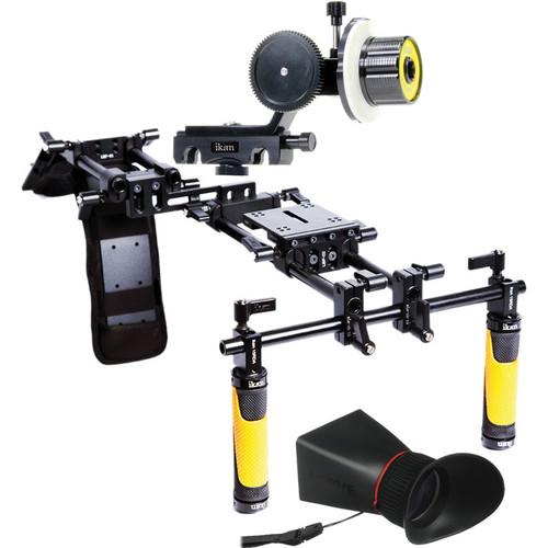 ikan Offset Shoulder Rig Turnkey Kit, Follow Focus & Viewfinder for Select Nikon DSLRs