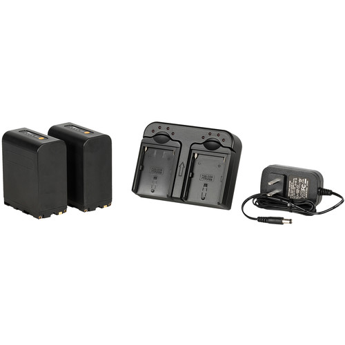 ikan DV Camera Battery Kit with Two NP-F970 8800mAh Batteries & Dual Charger