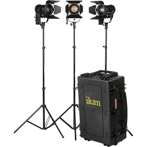ikan Helia 40W Bi-Color LED Fresnel 3-Light Kit