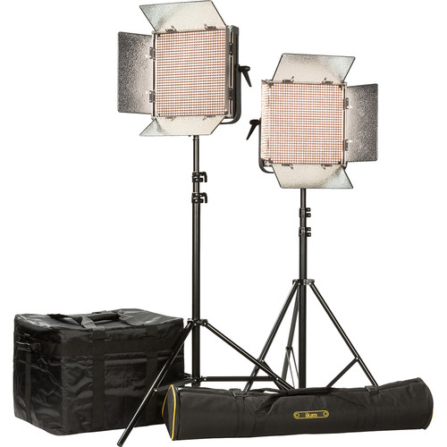 ikan IB1000-PLUS 2-Light Kit with Gold Mount Battery Plates