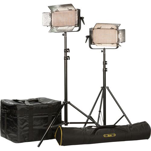 ikan IB500 LED Plus 2-Light Kit with Yokes & AB Battery Plates