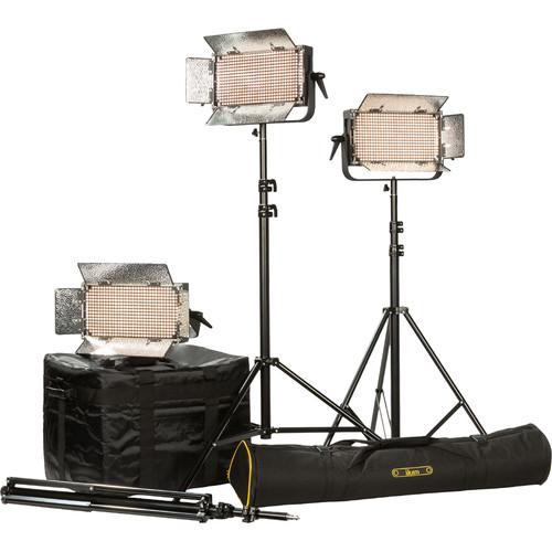 ikan IB500 LED Plus 3-Light Kit with Yokes & AB Battery Plates