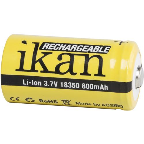 ikan 18350 Lithium-Ion Battery (3.7V, 800mAh)