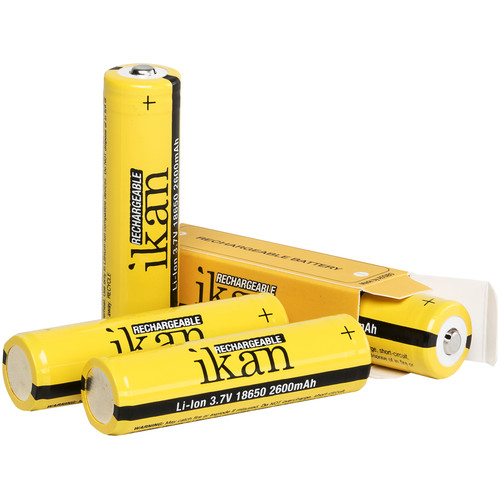 ikan 18650 Universal Rechargeable 3.7V 2600mAh Li-ion Battery (4-Pack)