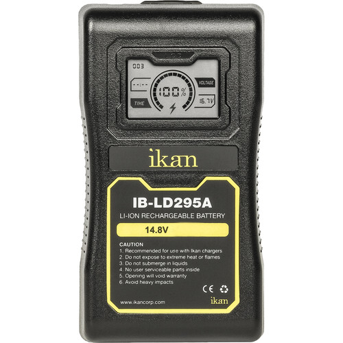 ikan 14.8V 95Wh 6.6A Lithium-Ion Battery (Gold Mount)