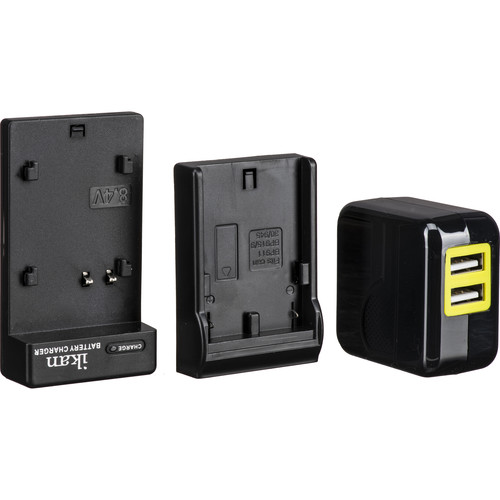 ikan Single DV Battery Charger and USB Wall Adapter with Canon 900-Series Plate