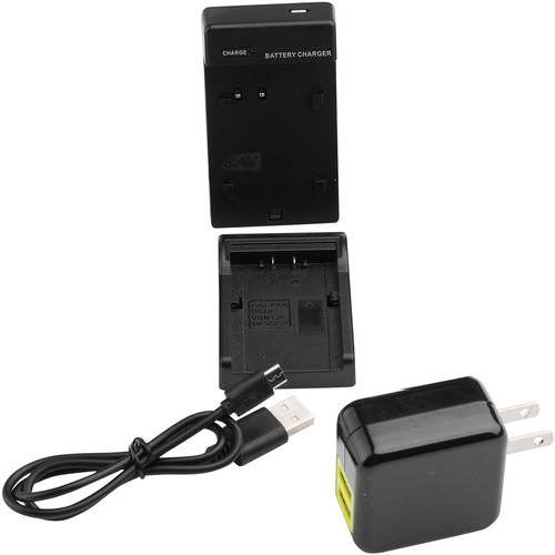 ikan Single DV Battery Charger and USB Wall Adapter with Panasonic D54 Plate