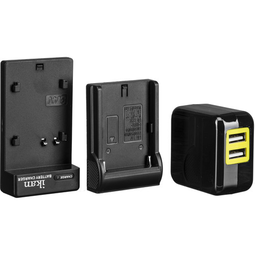 ikan Single DV Battery Charger and USB Wall Adapter with Sony L-Series Plate